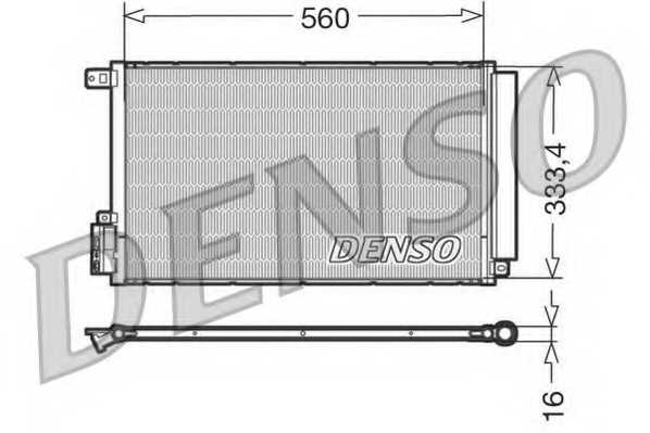 Конденсатор кондиционера DENSO DCN13109 - изображение