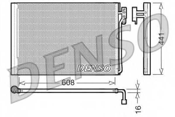 Конденсатор кондиционера DENSO DCN14001 - изображение