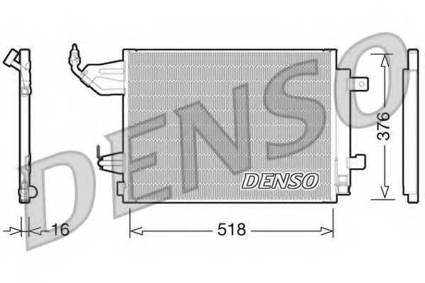 Конденсатор кондиционера DENSO DCN16001 - изображение