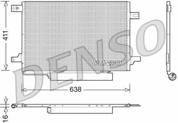 Конденсатор кондиционера DENSO DCN17004 - изображение