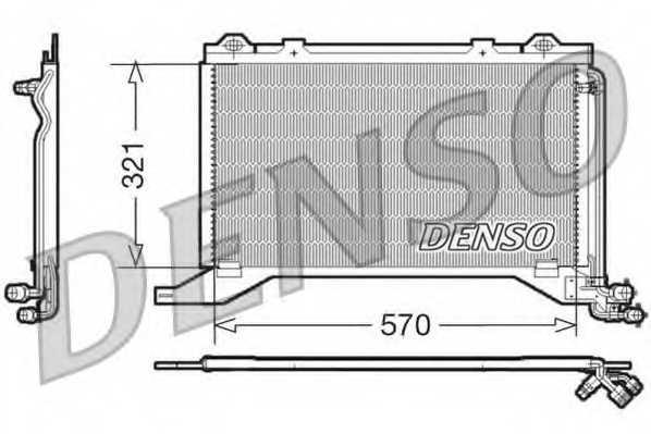 Конденсатор кондиционера DENSO DCN17019 - изображение