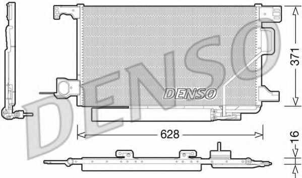 Конденсатор кондиционера DENSO DCN17026 - изображение