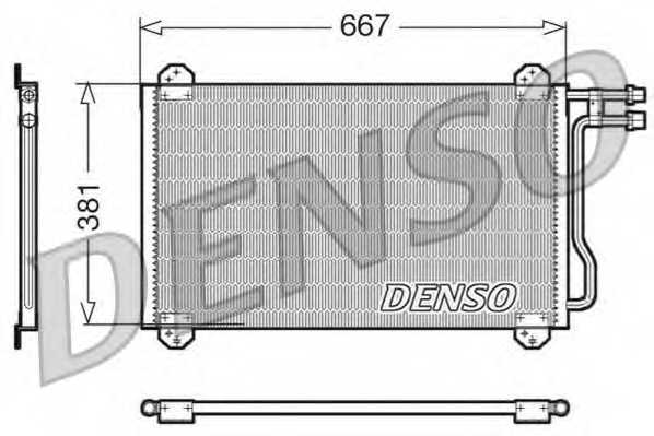 Конденсатор кондиционера DENSO DCN17055 - изображение