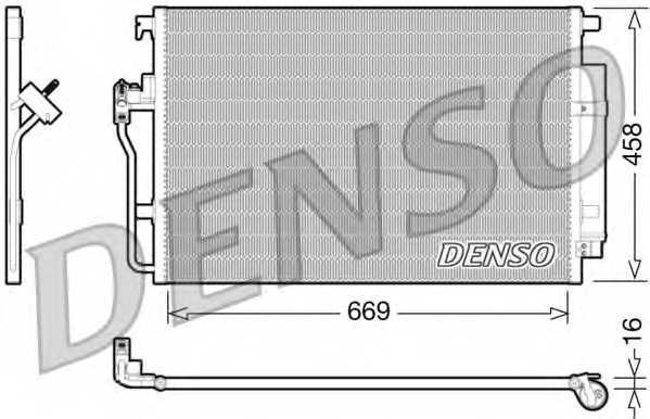 Конденсатор кондиционера DENSO DCN17056 - изображение