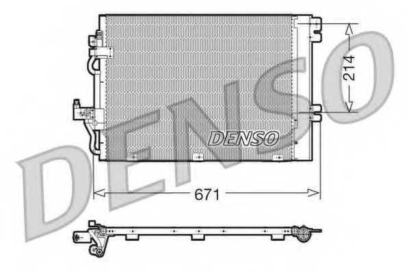 Конденсатор кондиционера DENSO DCN20009 - изображение