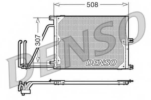Конденсатор кондиционера DENSO DCN20030 - изображение