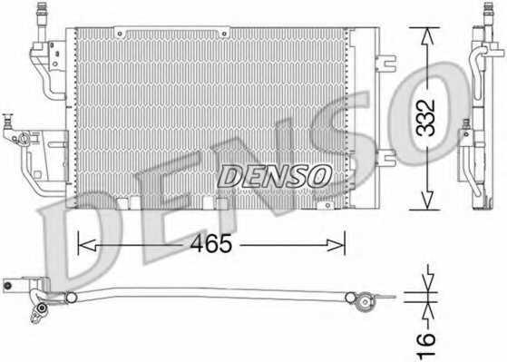 Конденсатор кондиционера DENSO DCN20037 - изображение