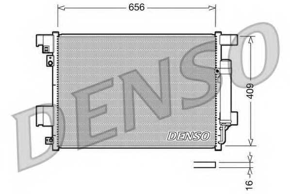 Конденсатор кондиционера DENSO DCN21001 - изображение