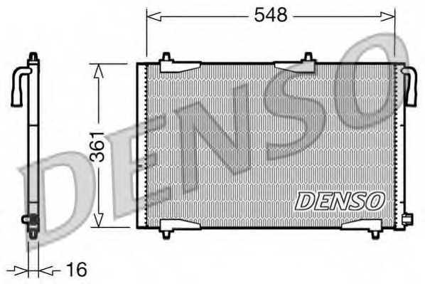 Конденсатор кондиционера DENSO DCN21002 - изображение
