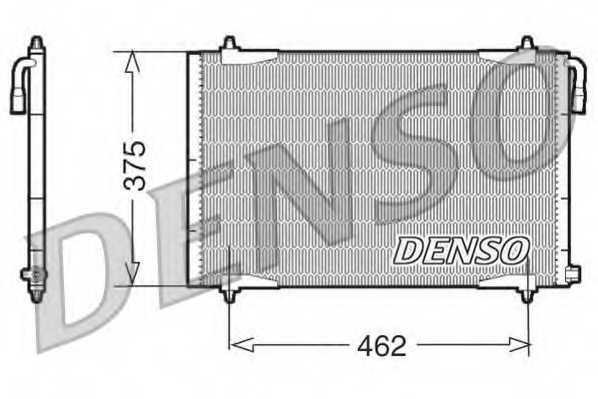 Конденсатор кондиционера DENSO DCN21006 - изображение