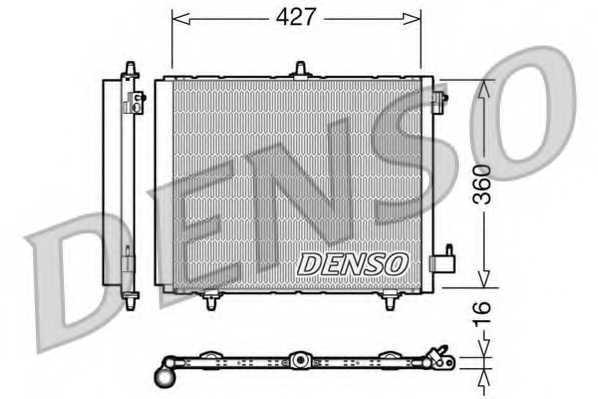 Конденсатор кондиционера DENSO DCN21009 - изображение