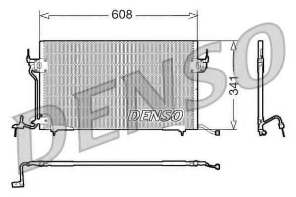 Конденсатор кондиционера DENSO DCN21010 - изображение
