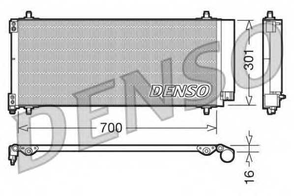 Конденсатор кондиционера DENSO DCN21027 - изображение