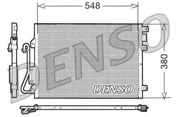 Конденсатор кондиционера DENSO DCN23008 - изображение