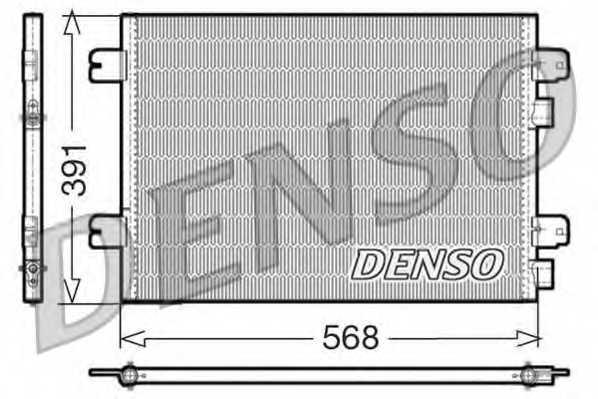Конденсатор кондиционера DENSO DCN23011 - изображение
