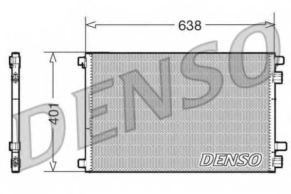 Конденсатор кондиционера DENSO DCN23012 - изображение