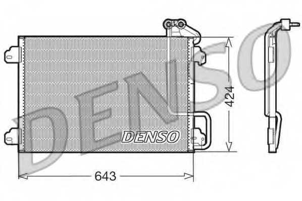 Конденсатор кондиционера DENSO DCN23013 - изображение
