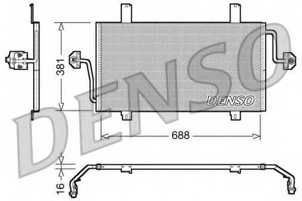 Конденсатор кондиционера DENSO DCN23016 - изображение