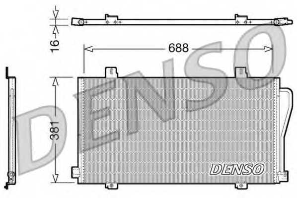 Конденсатор кондиционера DENSO DCN23017 - изображение