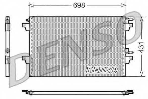 Конденсатор кондиционера DENSO DCN23021 - изображение