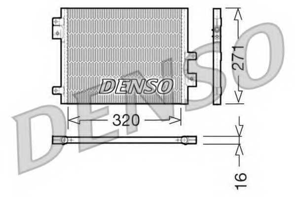 Конденсатор кондиционера DENSO DCN28002 - изображение