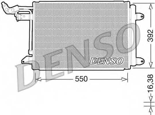 Конденсатор кондиционера DENSO DCN32002 - изображение