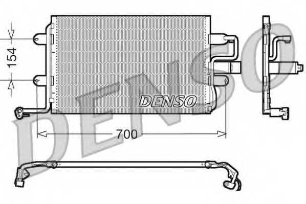 Конденсатор кондиционера DENSO DCN32017 - изображение