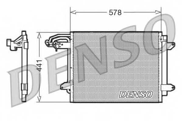 Конденсатор кондиционера DENSO DCN32030 - изображение