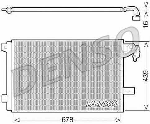 Конденсатор кондиционера DENSO DCN32063 - изображение