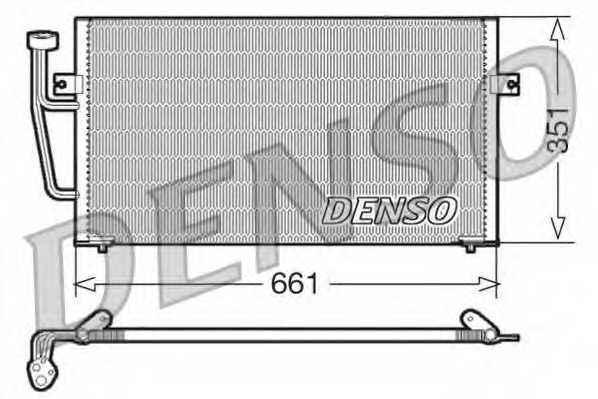 Конденсатор кондиционера DENSO DCN33008 - изображение