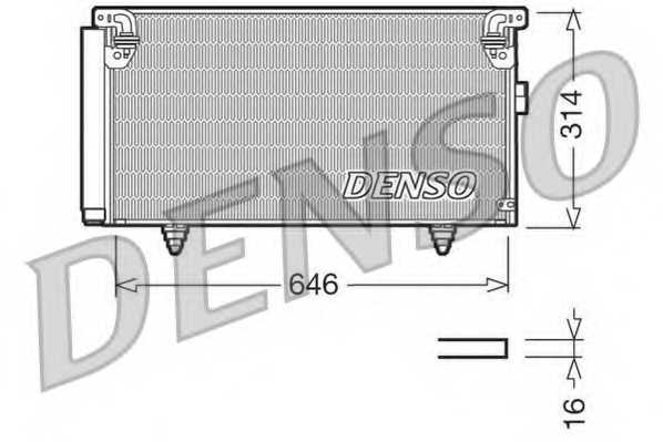 Конденсатор кондиционера DENSO DCN36001 - изображение