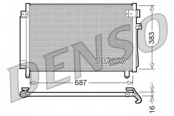 Конденсатор кондиционера DENSO DCN36002 - изображение