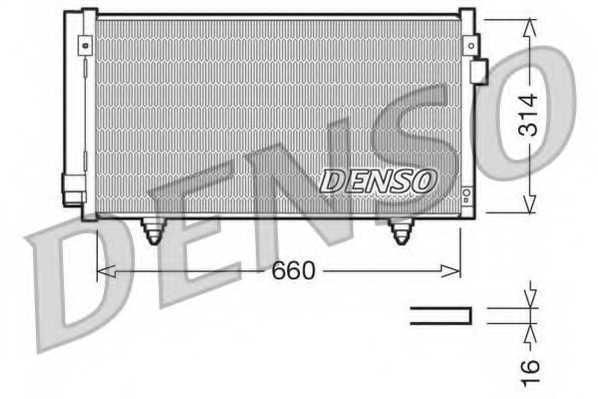 Конденсатор кондиционера DENSO DCN36003 - изображение