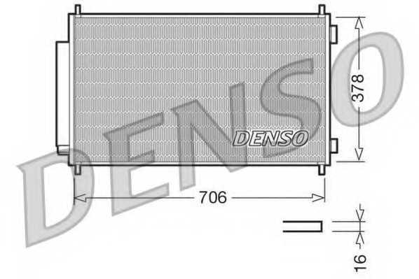 Конденсатор кондиционера DENSO DCN40002 - изображение
