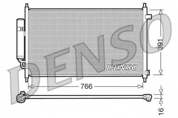 Конденсатор кондиционера DENSO DCN40004 - изображение