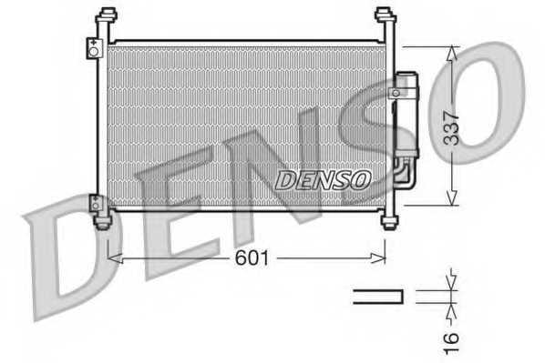 Конденсатор кондиционера DENSO DCN40007 - изображение