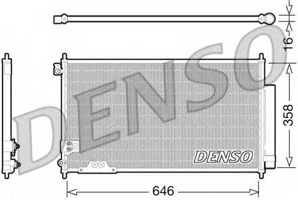 Конденсатор кондиционера DENSO DCN40009 - изображение