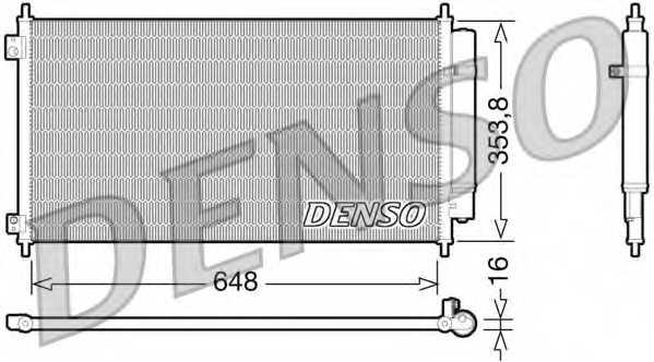 Конденсатор кондиционера DENSO DCN40010 - изображение