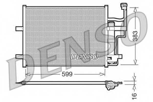 Конденсатор кондиционера DENSO DCN44003 - изображение