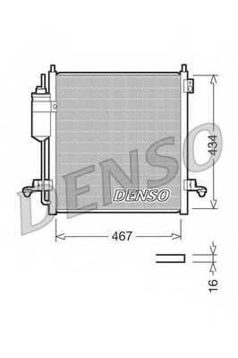 Конденсатор кондиционера DENSO DCN45001 - изображение