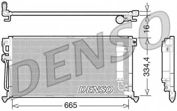 Конденсатор кондиционера DENSO DCN45003 - изображение