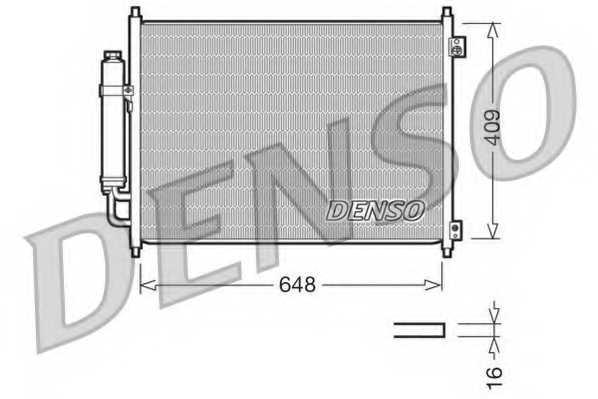 Конденсатор кондиционера DENSO DCN46001 - изображение