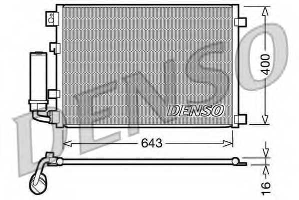 Конденсатор кондиционера DENSO DCN46002 - изображение
