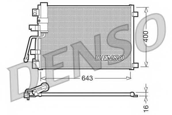 Конденсатор кондиционера DENSO DCN46003 - изображение