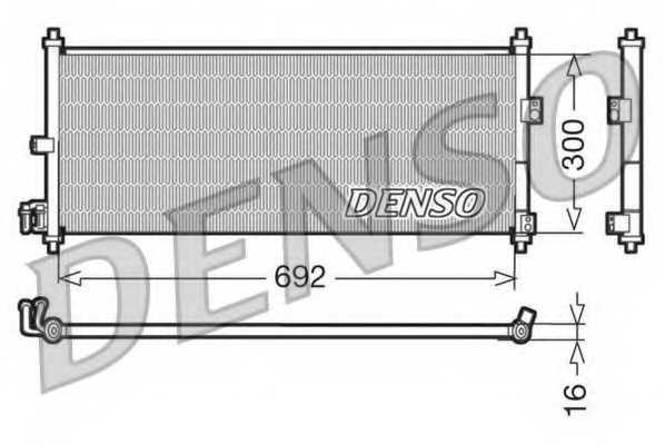 Конденсатор кондиционера DENSO DCN46011 - изображение