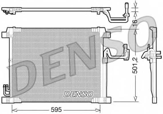 Конденсатор кондиционера DENSO DCN46012 - изображение