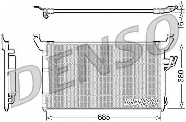 Конденсатор кондиционера DENSO DCN46013 - изображение