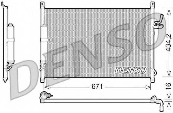 Конденсатор кондиционера DENSO DCN46015 - изображение