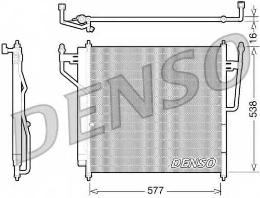 Конденсатор кондиционера DENSO DCN46017 - изображение