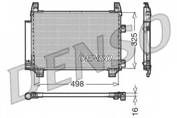 Конденсатор кондиционера DENSO DCN50001 - изображение